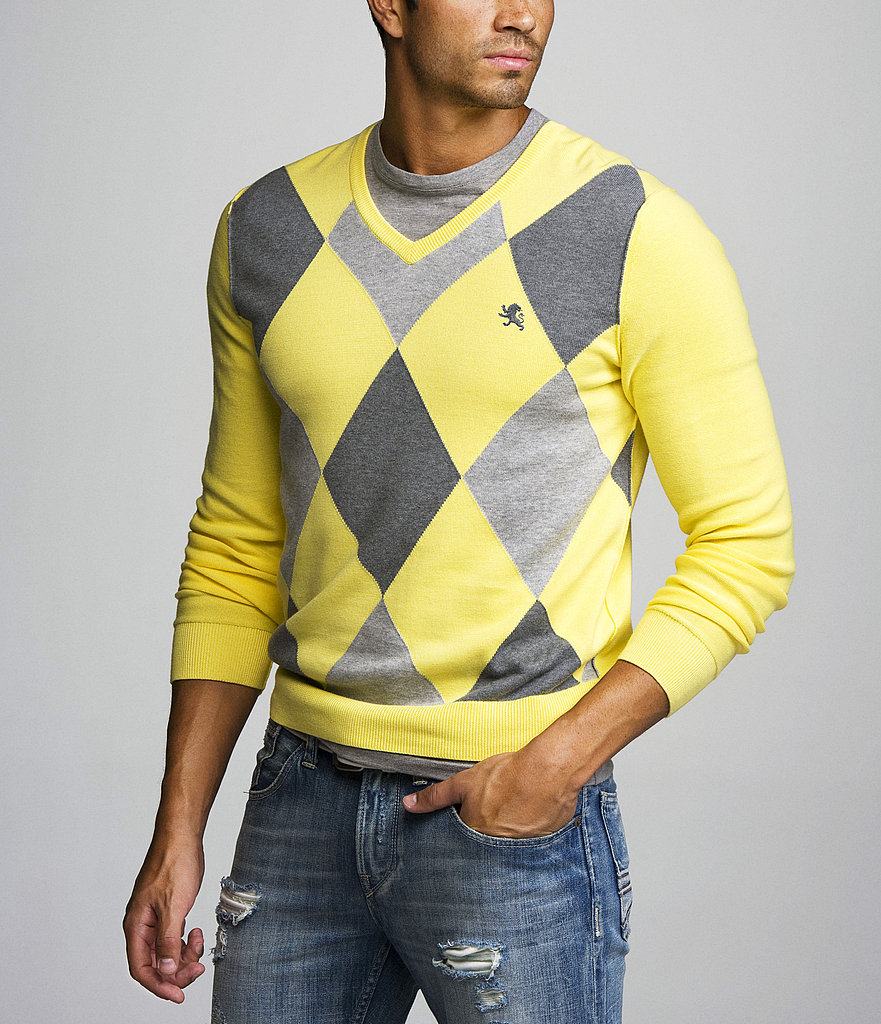 The Argyle V-Neck Cotton Sweater