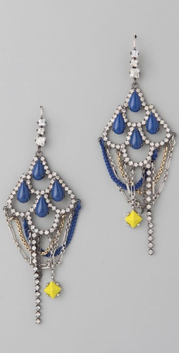 Juicy Couture Tear Drop Chandelier Earrings ($78)