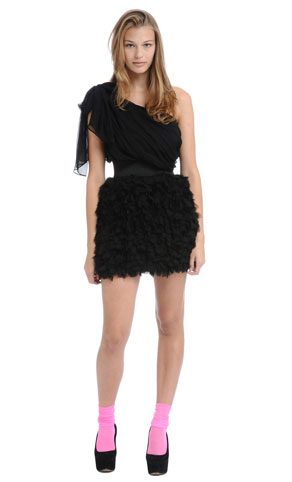 Foley & Corinna Asymmetrical Drape Petal Party Dress ($390)