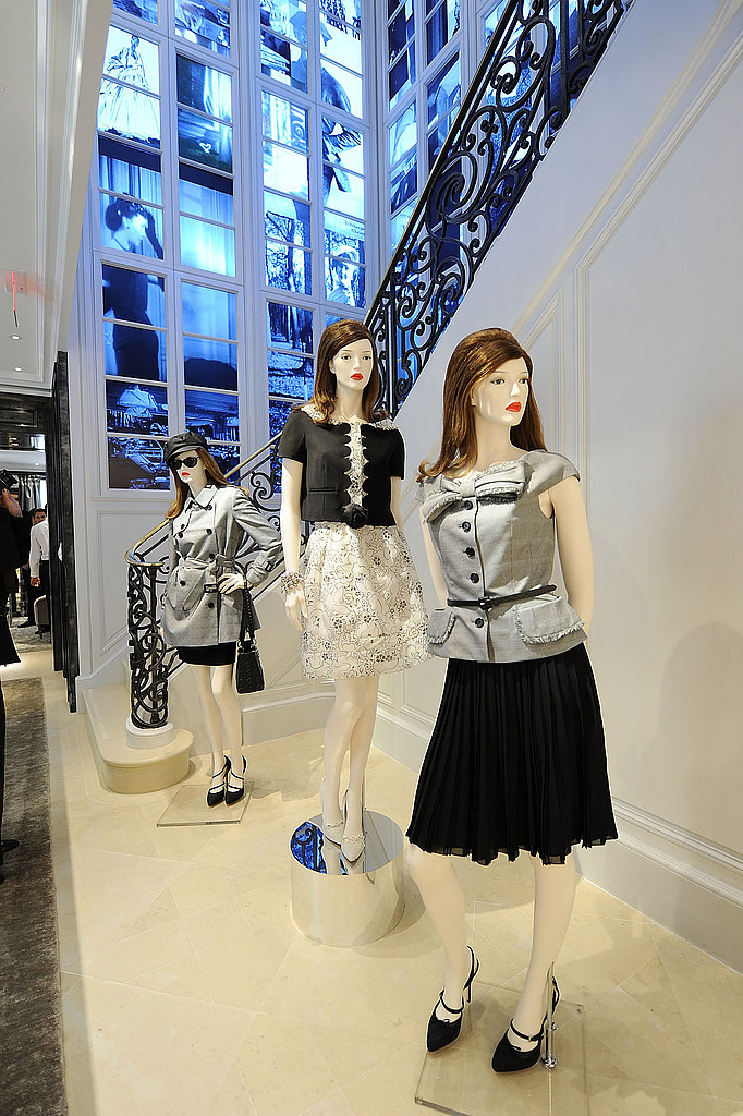 Styled to perfection, the mannequins show off a few ladylike ensembles.