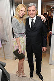 Dree Hemingway poses pretty with Christian Dior's CEO, Sidney Toledano.