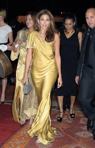 Eva Mendes looked beyond flawless in exotic Dior at the 10th Marrakech Film Festival.
