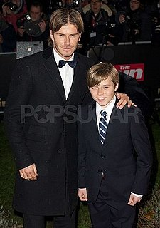 Pictures of David Beckham and Brooklyn at the MILLIE Awards in London