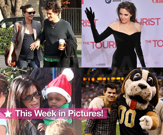 Angelina's Controversial Gloves, Orlando and Miranda's Baby Love, Little Louis Plays Santa, and More in This Week in Pictures!