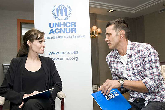 Pictures of Angelina Jolie in Spain Celebrating the UNHCR's 60th Anniversary 2010-12-17 10:58:00