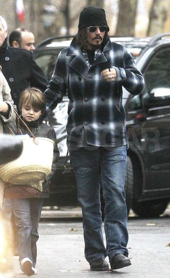 Johnny Depp Goes Holiday Shopping With Son Jack!