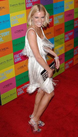 Unleashing her inner flapper at the NYC premiere of Factory Girl in 2007.