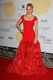Sienna wore a stunning red Valentino gown for the designer's 45th anniversary celebration in 2007.