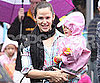 Slide Picture of Jennifer Garner and Seraphina in Rainy LA