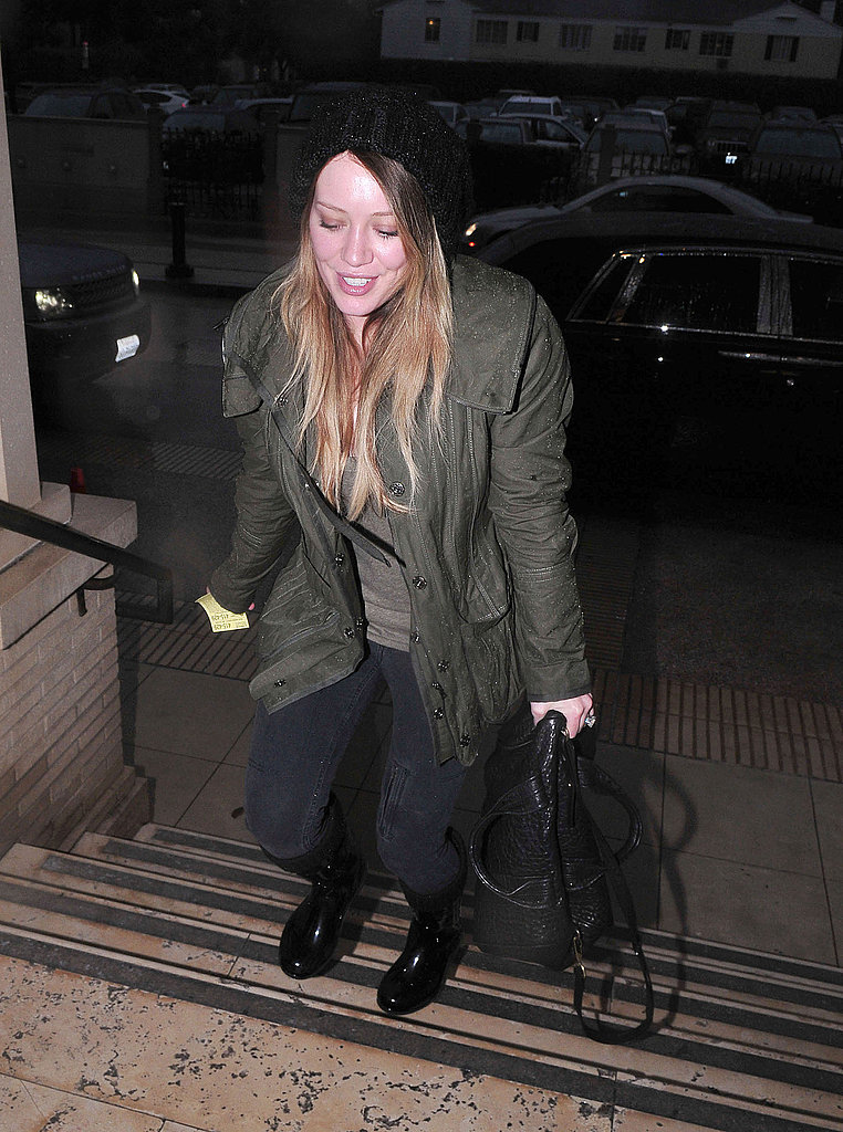 Hilary Duff Takes Care of Her Holiday Shopping in Style