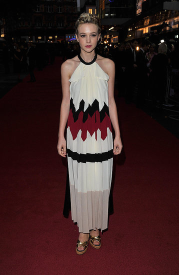 Carey Mulligan in Vionnet at the Never Let Me Go premiere in London.
