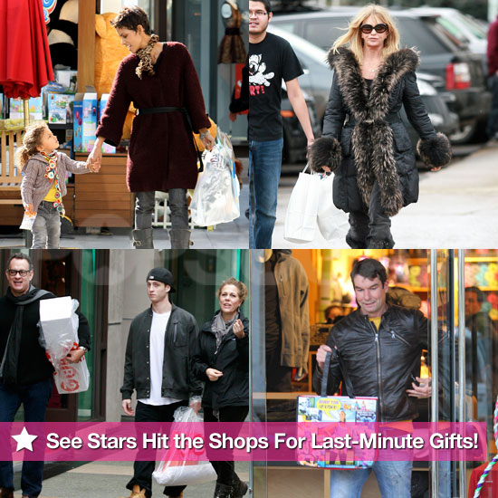 See Stars Hit the Shops For Last-Minute Gifts!
