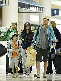 Pictures of Megan Fox, Brian Austin Green, and Kassius Green at LAX
