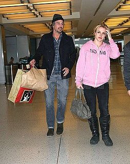 Pictures of Britney Spears and Jason Trawick at JFK Airport
