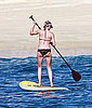 Pictures of Celebrity Doing Paddleboard Workout
