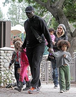 Pictures of Heidi Klum, Seal, Leni, Lou, Johan, and Henry Samuel at a Park in Beverly Hills