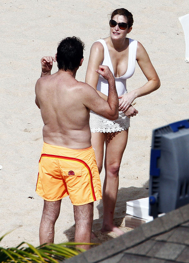 Stephanie Seymour Rocks Her String Bikini and Kisses Reconciled Husband in St. Barts!