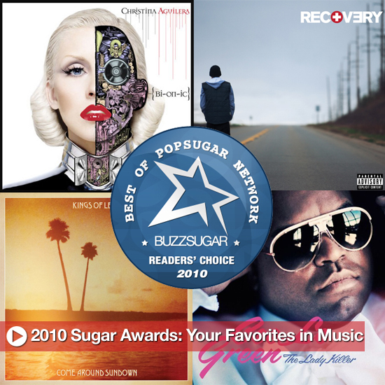 2010 Sugar Awards: Your Favorites in Music