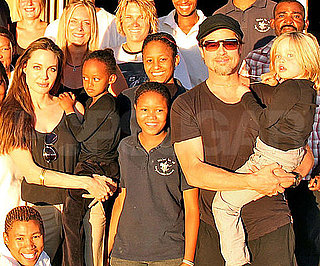 Slide Picture of Brad, Angelina, Shiloh, and Zahara Jolie-Pitt in Namibia