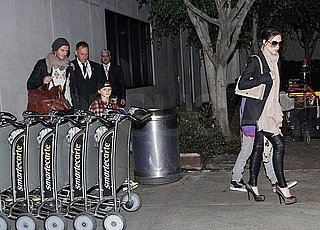 Pictures of David and Victoria Beckham Arriving at LAX After Christmas