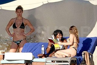 Pictures of Cindy Crawford and Bar Refaeli Together in Bikinis in Cabo