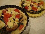 Spinach and Mushroom Tarts