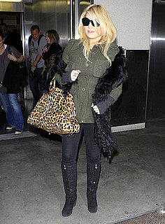 Pictures of Jessica Simpson Arriving Back at LAX