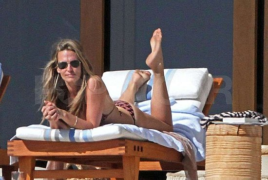 Molly Sims Sports a Skimpy Bikini as She Soaks Up the Sun in Cabo
