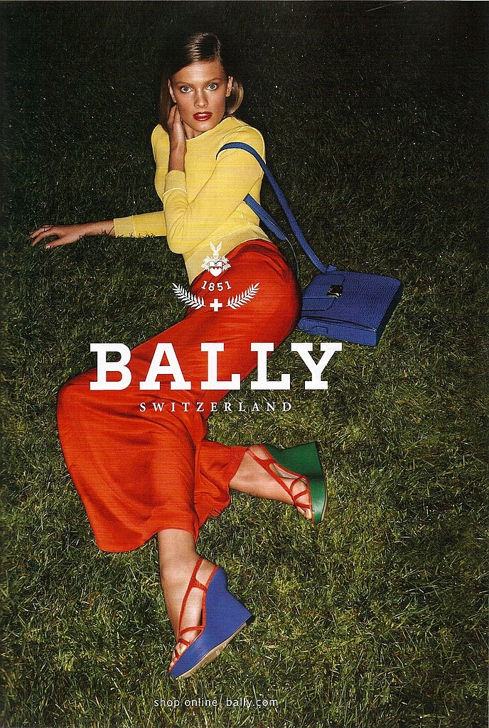 Constance Jablonski for Bally, by Daniel Jackson