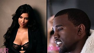 Video of Kanye West at Glamour Photo Shoot With Kim Kardashian