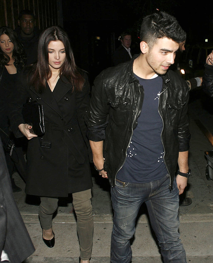 Pictures of Joe Jonas and Ashley Greene Leaving a Club in LA