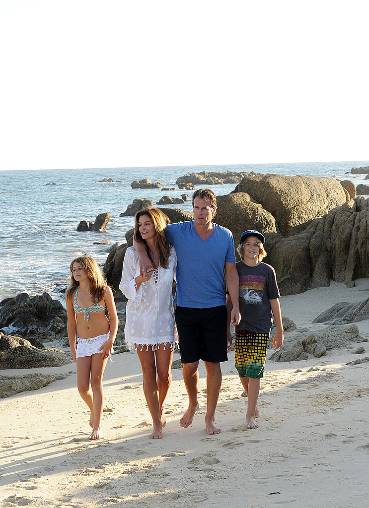 Cindy Crawford and Rande Gerber Take a Picture-Perfect Family Walk in the Sand