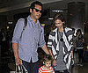Slide Picture of Jessica Alba and Cash Warren Arriving at LAX