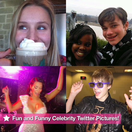 Justin Bieber, Kim Kardashian, and the Cast of Glee in This Week's Fun and Funny Celebrity Twitter Photos!