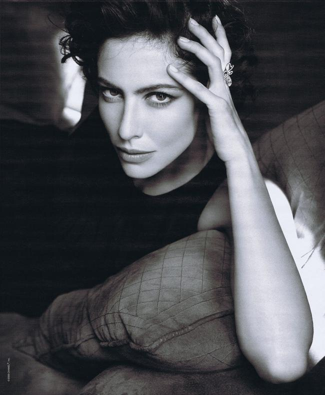 French actress Anna Mouglalis not only fronts Chanel's fine jewelry, but she also plays Coco in the movie Coco Chanel and Igor Stravinsky.