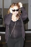 Mariah Carey Reveals a Growing Bump in a Tight Black Shirt!