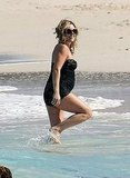 30 Rock's Jane Krakowski Debuts Her Baby Bump in Swimsuit!