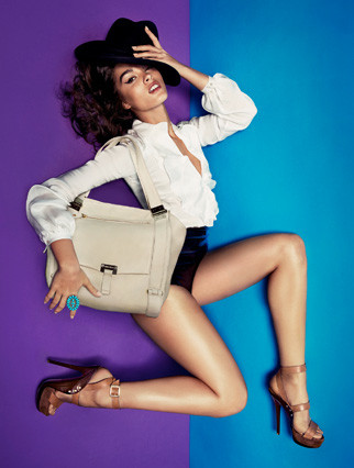 Crystal Renn rocks the new Jimmy Choo S/S '11 ads.