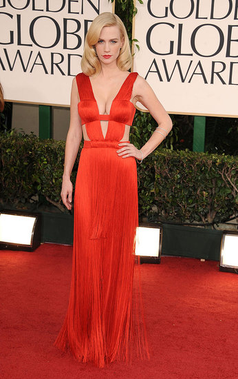 January Jones in Versace
