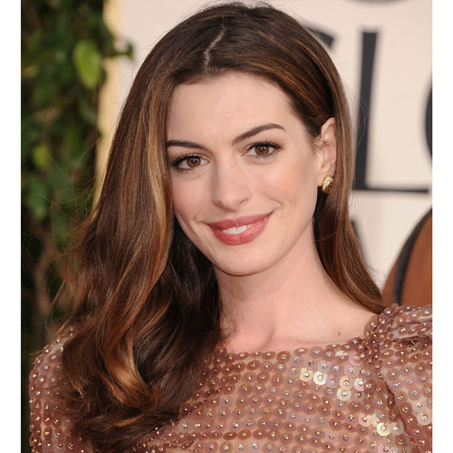 Anne Hathaway at Golden Globes 2011