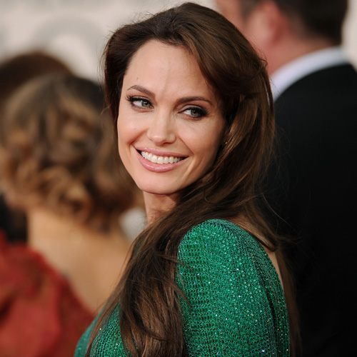 Angelina Jolie at Golden Globes 2011