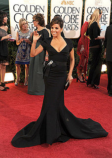 Pictures of Eva Longoria in Zac Posen on Golden Globe Awards Red Carpet 2011-01-16 16:20:06
