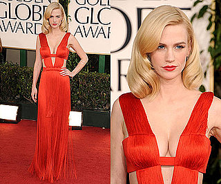 January Jones at 2011 Golden Globe Awards