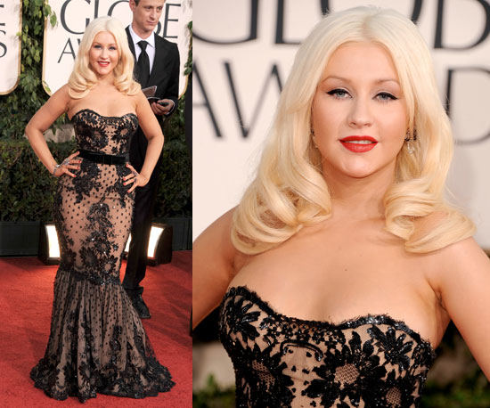 Christina Aguilera at 2011 Golden Globe Awards