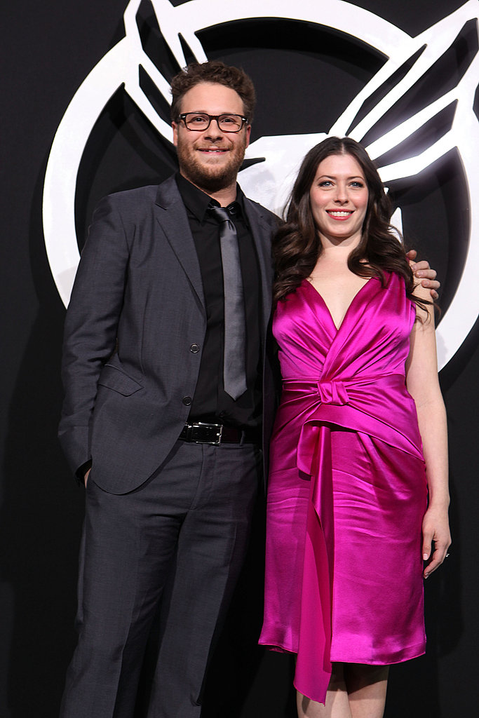 Seth Rogen's Fiancée  Flashes Engagement Ring by His Side at Green Hornet Premiere — Check Out Her Diamond!