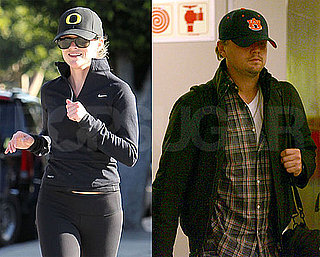 Pictures of Leonardo DiCaprio Wearing an Auburn Hat and Reese Witherspoon in University of Oregon