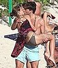 Pictures of Olivia Palermo in Bikini Kissing Boyfriend Johannes Huebl in St. Barts