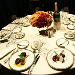 Dinner Menu at 2011 68th Annual Golden Globes