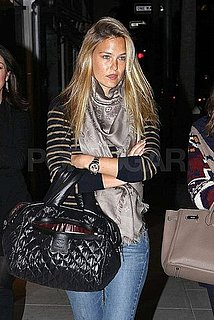 Pictures of Bar Refaeli Shopping at Giussepe Zanotti in Beverly Hills With a Friend