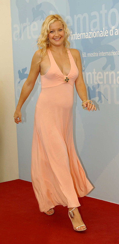 Kate Hudson stepped out for the Le Divorce photocall with a mega bump at the 2003 Venice Film Festival.